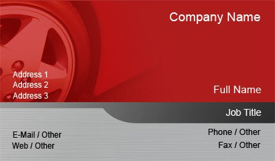 Red and Grey Tire Business Card Template